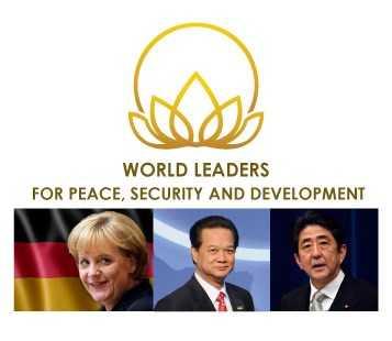 Thủ tướng Nguyễn Tấn Dũng cùng bà Angela Merkel và ông Shinzo Abe được vinh danh là Lãnh đạo thế giới vì hòa bình, an ninh và phát triển.