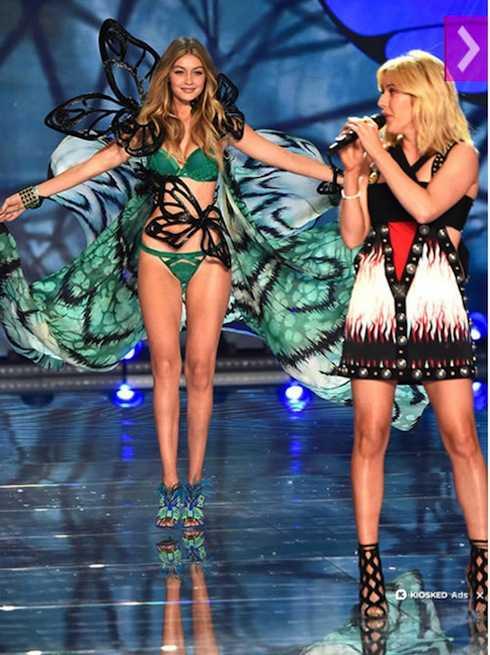 Gigi Hadid lần đầu góp mặt trong show nội y đình đám và nhận được nhiều lời khen.