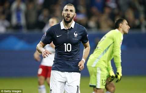 Benzema có khả năng không được dự Euro 2016