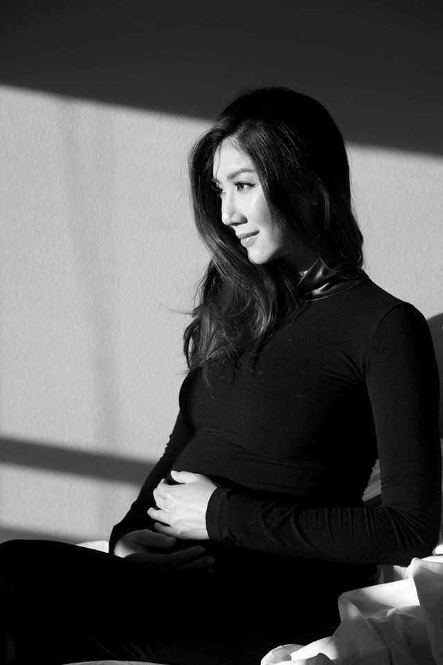 Ngọc Quyên dự sinh vào tháng 1/2016.
