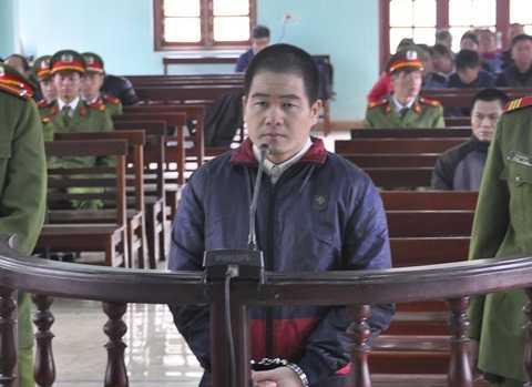 Bị cáo Tráng A Tàng tại phiên tòa