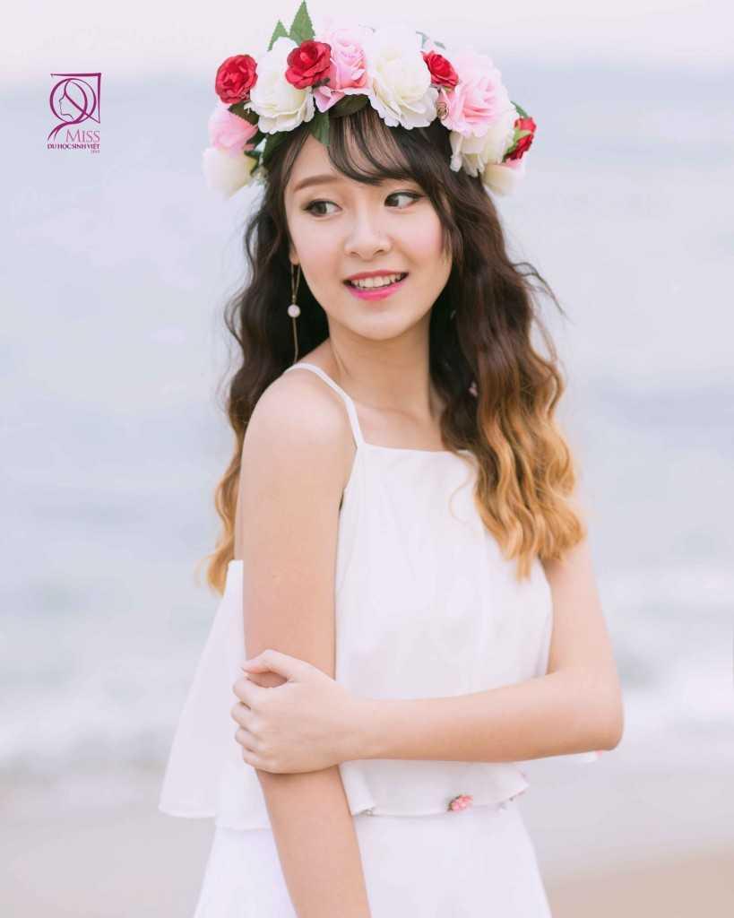 Lê Hương Thảo, sinh năm 1996 – Du học sinh: Ritsumeikan Asia Pacific University – Beppu, Japan với chiều cao: 168 cm – Cân nặng: 48 kg là Á khôi 1 của cuộc thi Miss Du học sinh Việt 2015