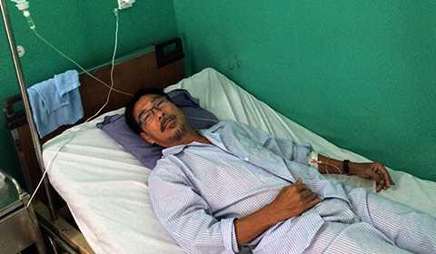 Ông Phan Thái Tú đang nằm điều trị tại Bệnh viện