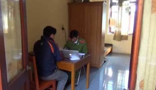 Nạn nhân đến trình báo tại cơ quan Công an TP Bắc Kạn
