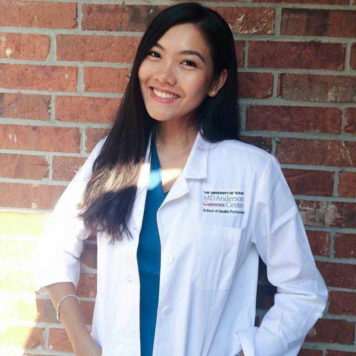 Vũ Nam Phương hiện đang học ngành Chẩn đoán hình ảnh Y tế, Y học phóng   xạ tại University of Texas MD Anderson Cancer Center - School of Health   Professions (Texas, Mỹ). Đây là một trong những cơ sở đào tạo nghiên cứu và chữa trị bệnh ung thư hàng đầu thế giới.