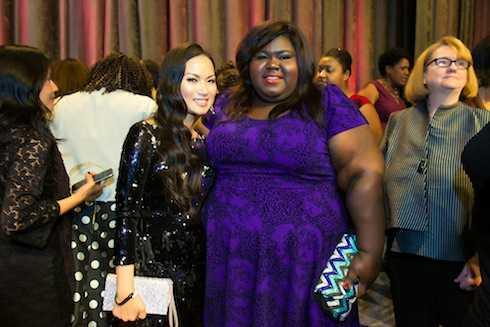 Hà Phương và Gabourey Sidibe (nữ diễn viên từng được đề cử giải Qủa cầu vàng và Oscar cho hạng mục Nữ diễn viên chính xuất sắc qua bộ phimPrecious).