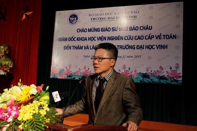 GS Ngô Bảo Châu kể lại câu chuyện của chính mình:
