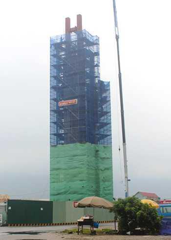 Tòa tháp biểu tượng tinh thần của Formosa đang được xây dở tại phường Kỳ Liên, thị xã Kỳ Anh (Hà Tĩnh).
