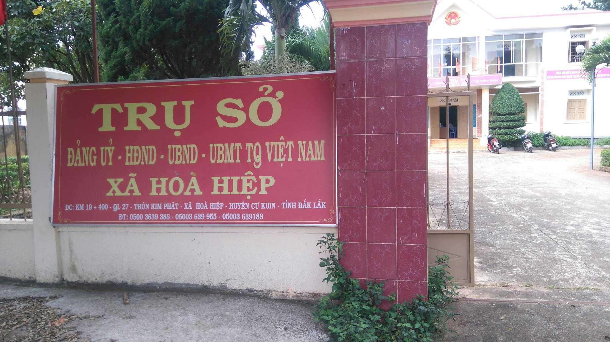 Trụ sở UBND xã Hoà Hiệp, huyện Cư Kuin, tỉnh Đắk Lắk