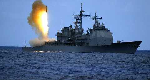 Tàu khu trục Mỹ phóng tên lửa đánh chặn SM-3