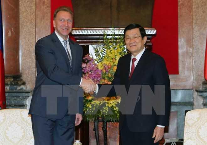 Chủ tịch nước Trương Tấn Sang tiếp ngài I.Shuvalov, Phó Thủ tướng thứ nhất Liên bang Nga sang thăm và làm việc tại Việt Nam. (Ảnh: Nguyễn Khang/TTXVN)
