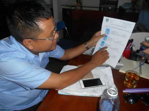 Ông Phạm Triều Dinh cho rằng các nhân viên Công ty bảo vệ Ngự Lâm không tham gia đánh cư dân chung cư 4S. Ảnh: Phan Cường