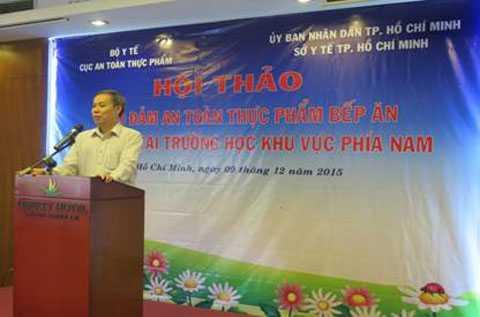 TS Nguyễn Hùng Long- Phó Cục trưởng Cục an toàn thực phẩm khai mạc hội thảo