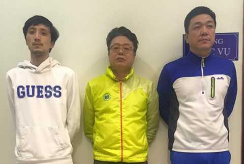 Ba đối tượng người Hàn Quốc bị cơ quan công an bắt giữ