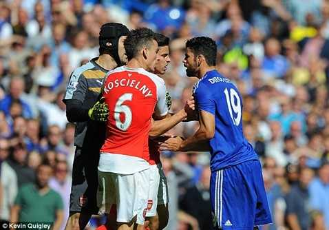 Diego Costa bị treo giò 3 trận đã ảnh hưởng không nhỏ tới Chelsea