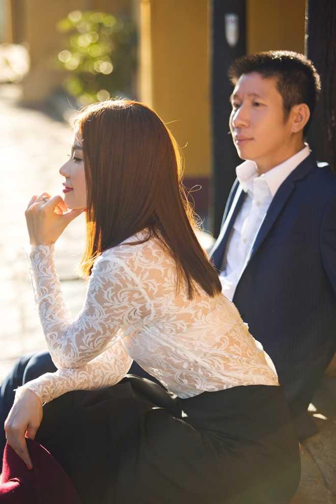 Lần đầu tiên ông xã sắp cưới của Diễm Trang 'lộ diện' trước truyền thông.
