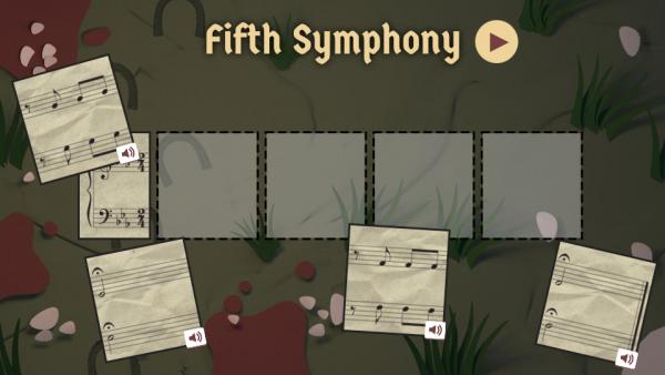 Doodle của Google có hiệu ứng để người dùng có thể tự chơi những bản nhạc huyền thoại của Beethoven