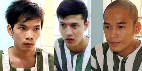 Từ trái sang: Tiến, Dương, Thoại
