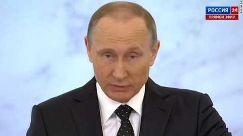 Tổng thống Putin phát biểu trong cuộc họp báo