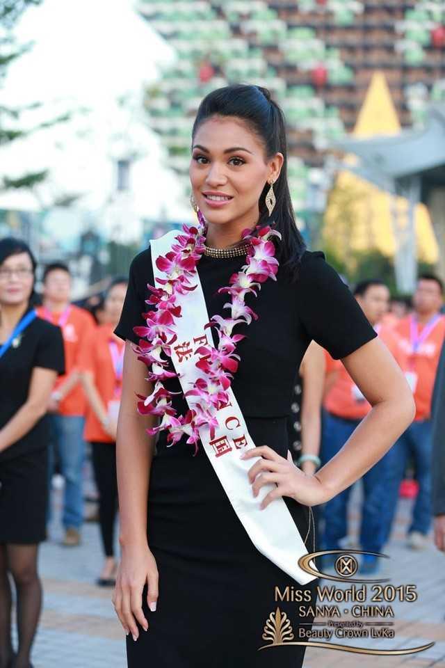 Hoa hậu Pháp là ứng viên sáng giá cho vương miện Miss World năm nay. Ảnh: Miss World