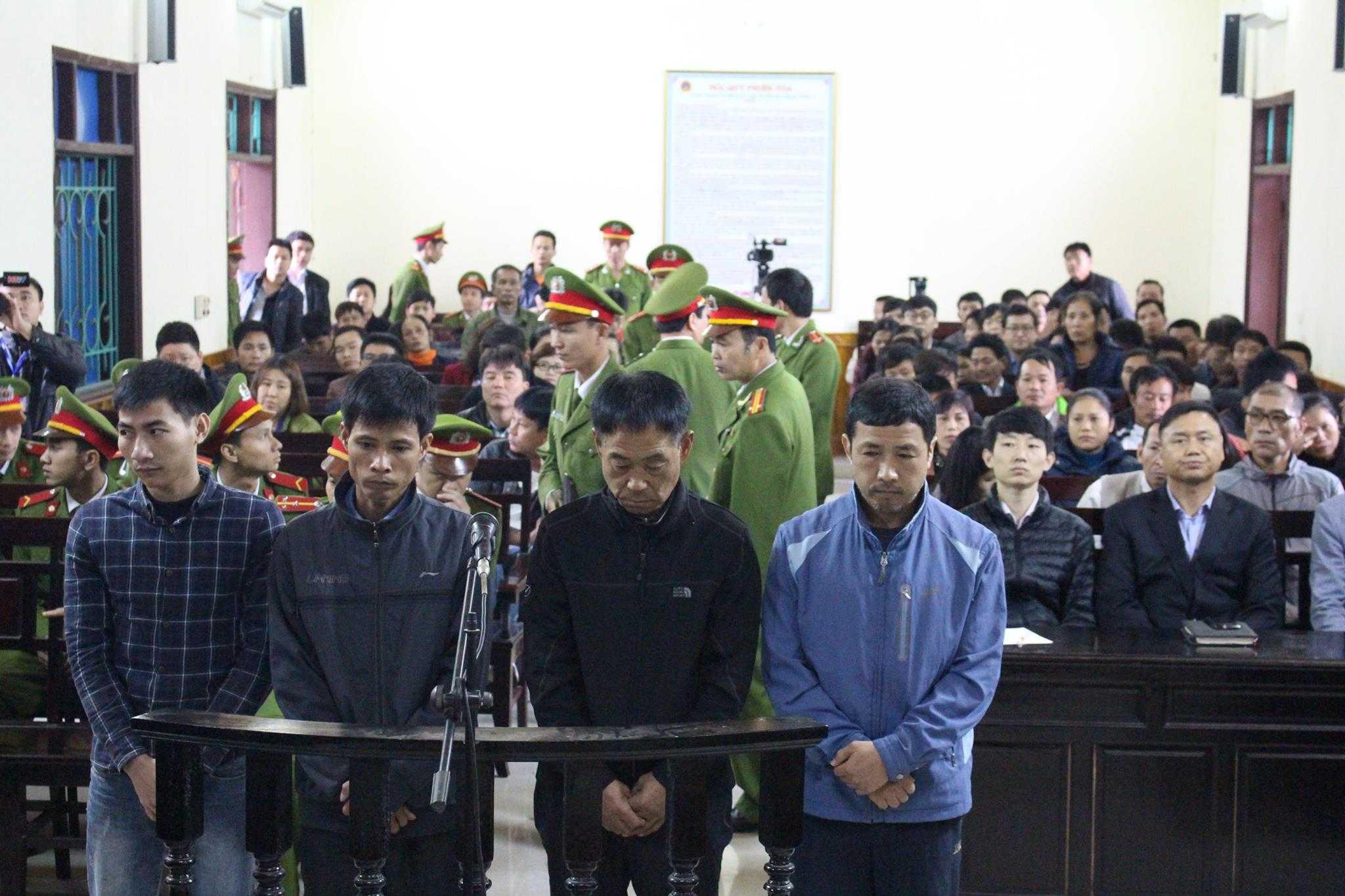 4 bị cáo bị truy tố trong vụ sập giàn giáo ở Formosa.