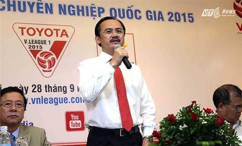 Chủ tịch VPF Võ Quốc Thắng (Ảnh: Quang Minh)