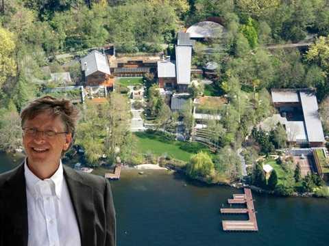 Bill Gates chi rất nhiều tiền để có được một căn biệt thự tiện nghi, sang trọng và xa xỉ.