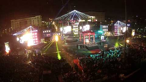 Sân khấu chính sẽ là Quảng trường 29/3, đường 2/9, quận Hải Châu, TP Đà Nẵng