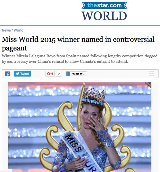 Tờ Thestar World cho rằng đây là một mùa Hoa hậu Thế giới gây nhiều tranh cãi.