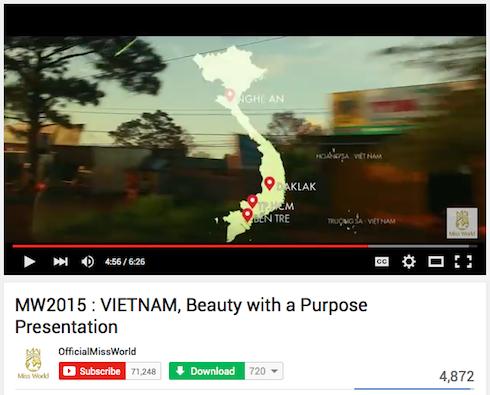 Ảnh chụp màn hình clip giới thiệu dự án của Lan Khuê.
