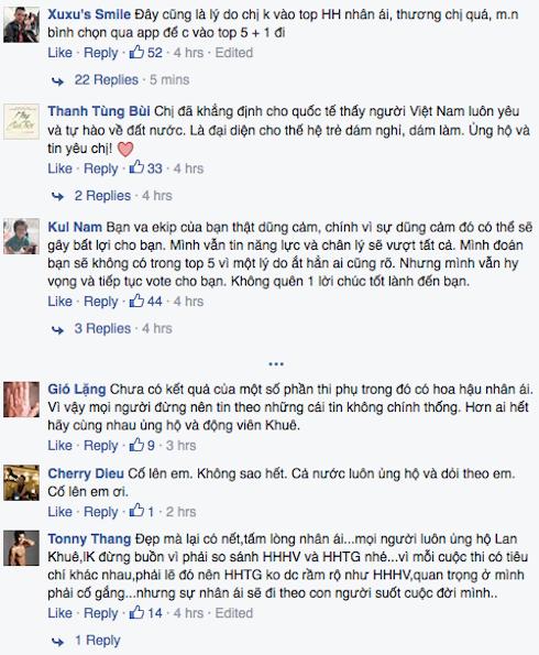 Khán giả trong nước cũng cho rằng BTC Hoa hậu Thế giới 2015 đã 'xử ép' đại diện của Việt Nam - Trần Ngọc Lan Khuê.