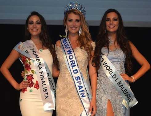 Cô cũng lên ngôi tại Miss World Spain 2015.