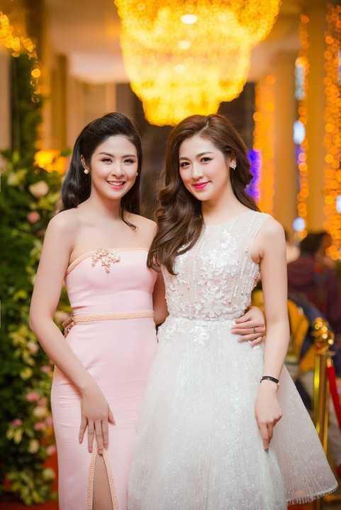Hoa hậu Ngọc Hân lại chọn cho mình tông màu hồng ngọt ngào