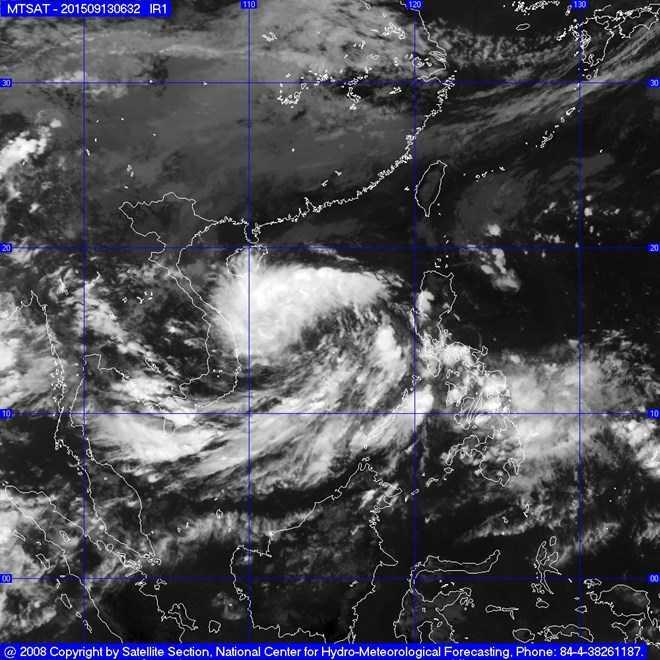 Vùng áp thấp đang ở khu vực phía Tây Nam quần đảo Trường Sa (ảnh minh họa)