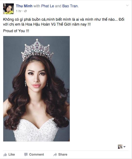 Đối với Thu Minh, Phạm Hương vẫn là hoa hậu trong lòng nữ ca sỹ