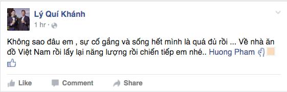 NTK Lý Quí Khánh cũng động viên Phạm Hương
