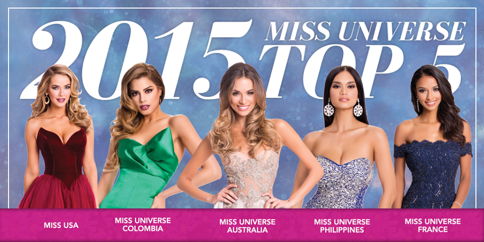 Top 5 Miss Muniverse 2015