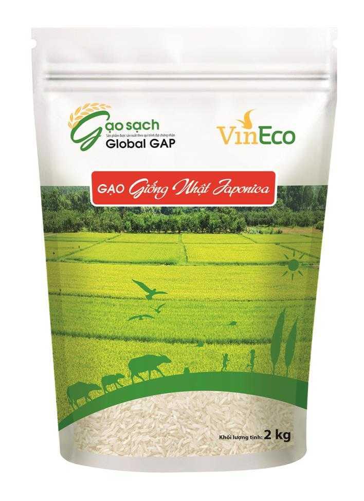 VinEco gạo giống Nhật 2kg