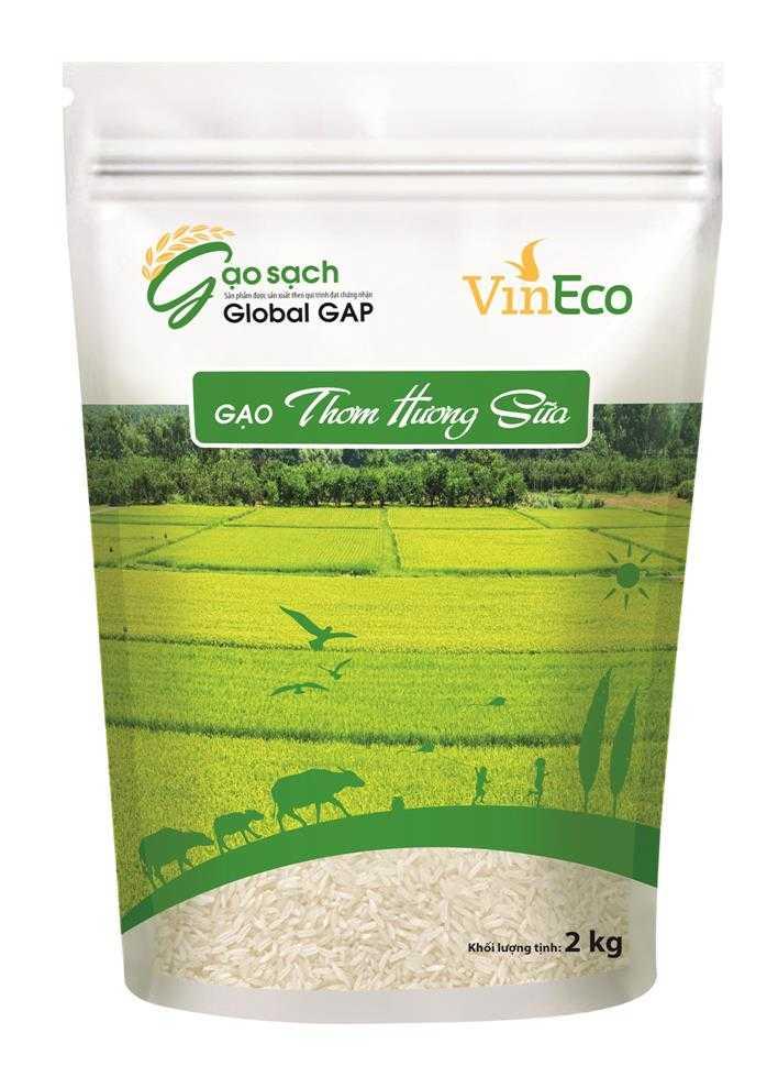 VinEco gạo thơm hơi sữa