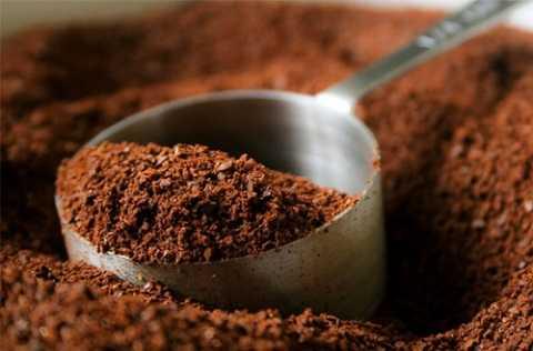 Bộtcà phê là thành phần chính trong hỗn hợp này.