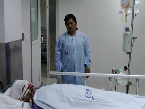 Bà Chài trong phòng hồi sức. Ảnh: CTV