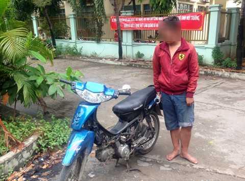 Đối tượng Tuấn cùng phương tiện gây án bị bắt giữ.