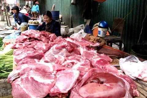 Thịt là một trong những mặt hàng sẽ được thanh kiểm tra dịp gần Tết.