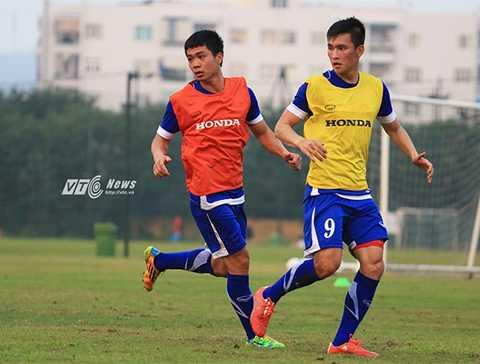 Công Phượng sẽ có màn đấu với Công Vinh trước ngày U23 Việt Nam chốt quân (Ảnh: Quang Minh)