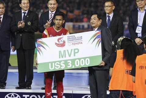 CLB Buriram United vừa vô địch Mekong Toyota Cup 2015