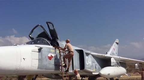 Phi công Nga chuẩn bị cho chiến dịch không kích ở Syria