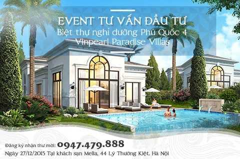Sự kiện tư vấn đầu tư Biệt thự Vinpearl Paradise Villas