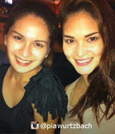Người bạn thân thiết nhất trong công việc lẫn cuộc sống của Pia là nữ diễn viên Pauleen Luna. Hai người đẹp có nhan sắc khá hao hao giống nhau nên nhiều người vẫn nhầm tưởng họ là chị em sinh đôi.