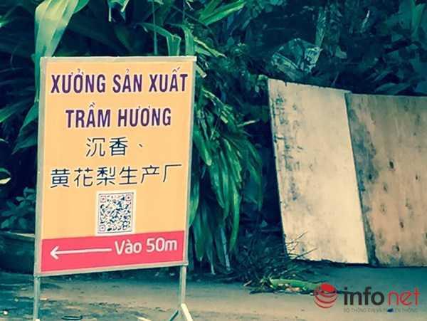 ... mà cả một số hàng quán xung quanh cũng toàn treo biển hiệu tiếng Trung Quốc.