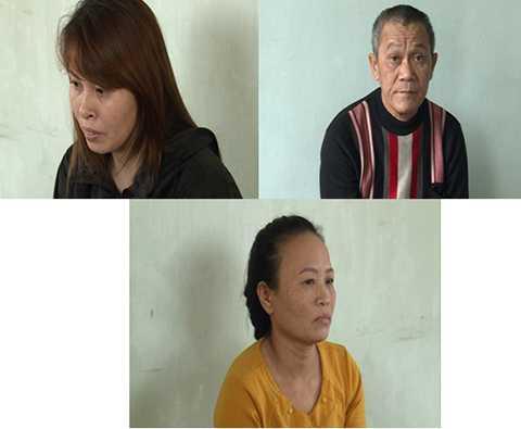 Các đối tượng: Trần Thị Thu, Đinh Hồng Quân và Trần Thị Bơ